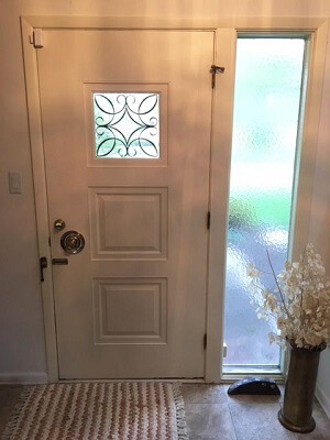 Fiberglass Entry Door With OSU Coloring improve aesthetic of home