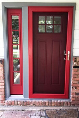 Fiberglass Entry Door With OSU coloring after