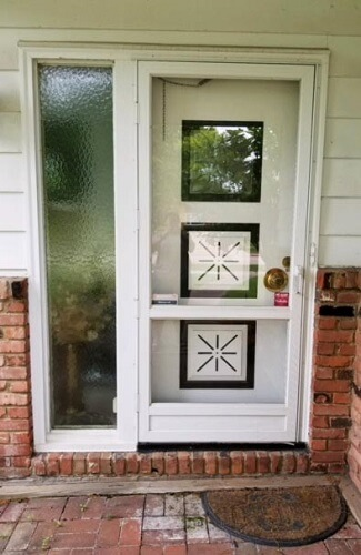 Fiberglass Entry Door Replacement with OSU coloring before