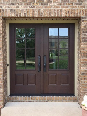 Fiberglass woodgrain Entry Door Replacement After