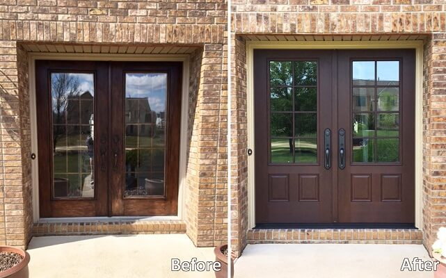 Fiberglass Entry Door Has Look and Feel of Real Wood