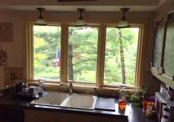 natural pine wood window interiors
