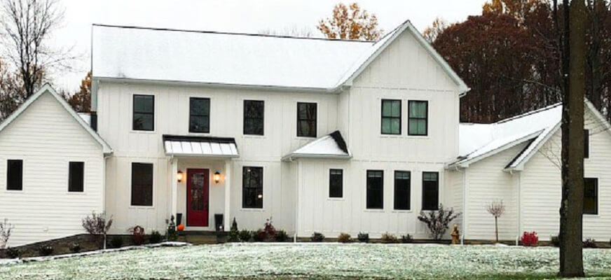 Black Windows Modernize Classic Farmhouse