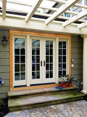 new hinged patio doors for cleveland home
