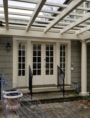 cleveland home gets new hinged patio doors