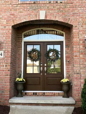 Fiberglass Double Doors Upgrade Medina Entry