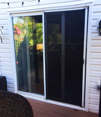 before image of sliding patio door in mentor home