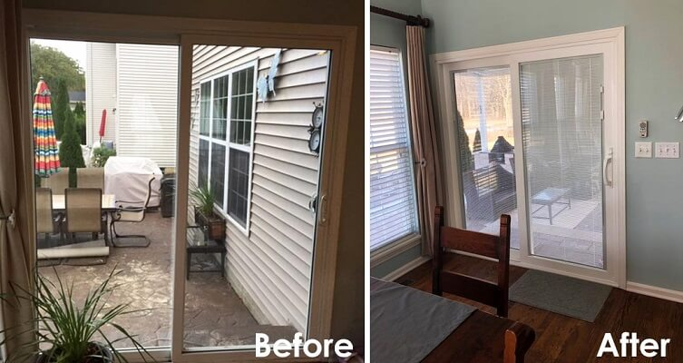 Pella Replaces Builder Grade Sliding Patio Door