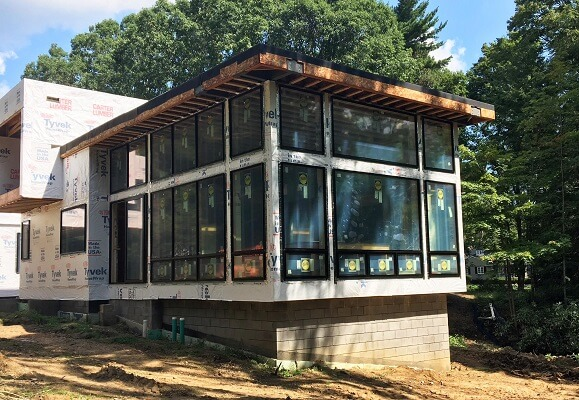 cleveland home gets new awning and casement windows