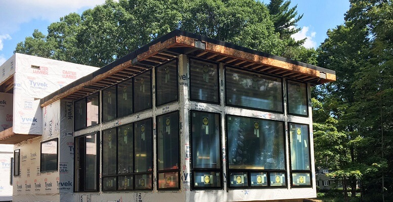 Black Windows Create Wall of Glass for Cleveland Home