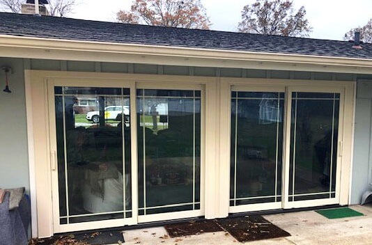 after image of cleveland home with new sliding patio doors