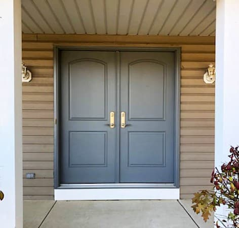 Double Entry Door Replacement Gives Homeowners More Privacy