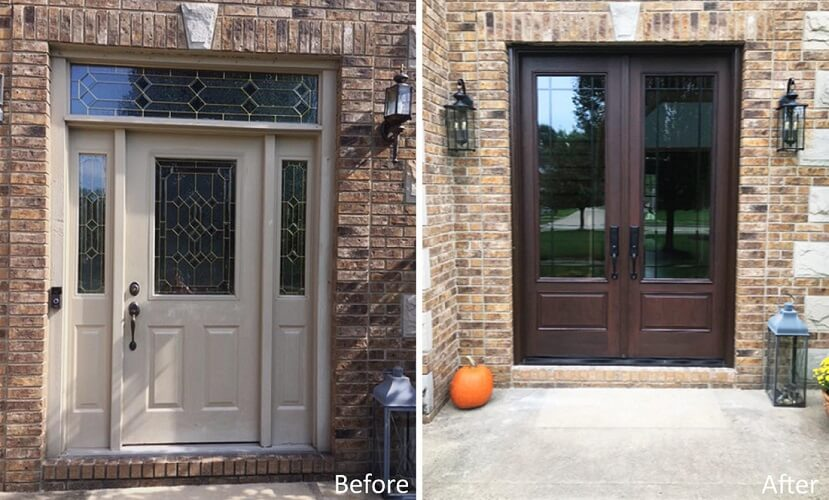 New Fiberglass Entry Door Updates OH Home Entryway