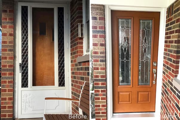 Beautiful Fiberglass Door Inspires Homeowners
