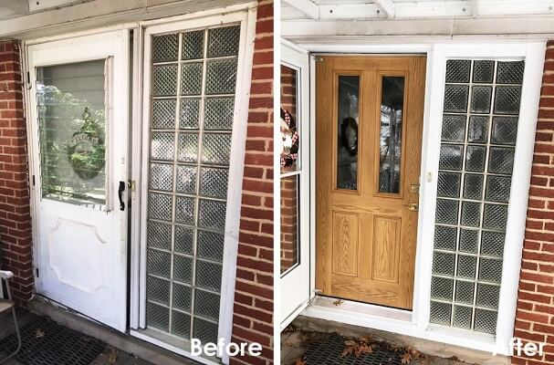 Fiberglass Entry Door Eliminates Draft in Parma Home
