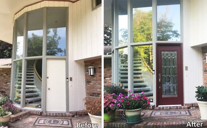 New Fiberglass Entry Door Modernizes Cleveland Home