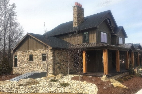 wood specialty windows on new construction home in cleveland