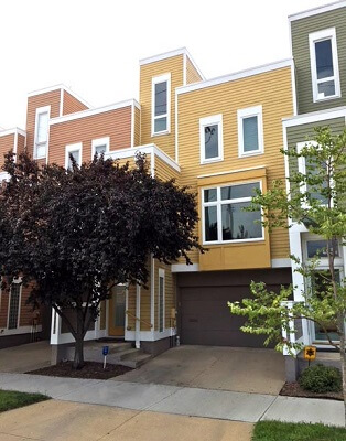 downtown cleveland three level townhome gets new vinyl casement windows