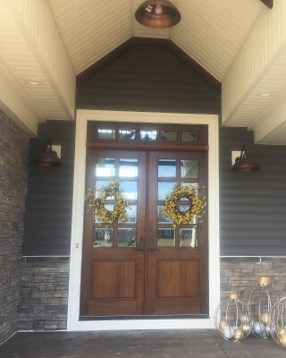 Wood Entry Door U0026 Casement Windows In New Home