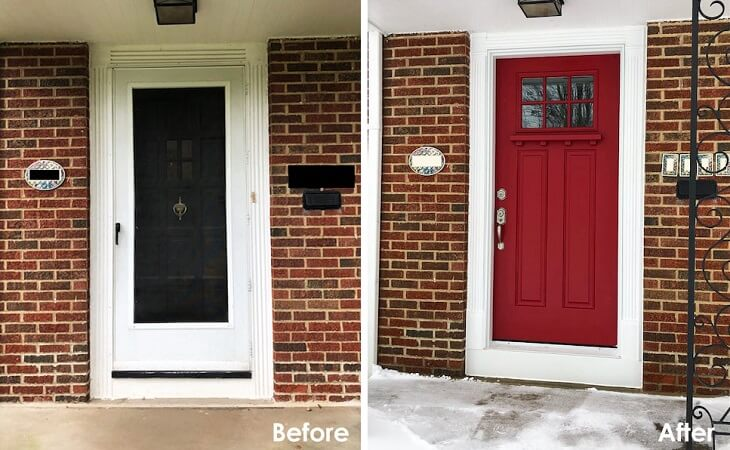 University Heights Home Gets Front and Back Entry Door Replacement