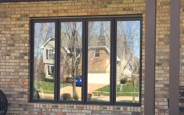 Wood Window Replacement with Muntins Before