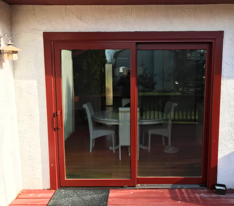 Lifestyle sliding glass door red Westerville