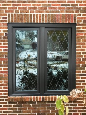 Casement Windows with Diamond Grilles Beautify Columbus Home