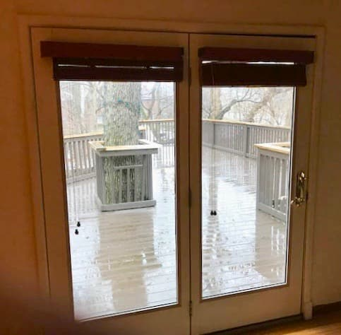 Lifestyle Series Sliding Patio Door Transforms Deck
