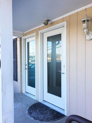 Full Glass Fiberglass Entry Door