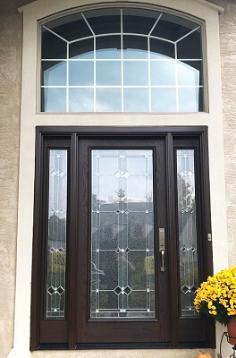 after image of columbus home with new fiberglass entry door