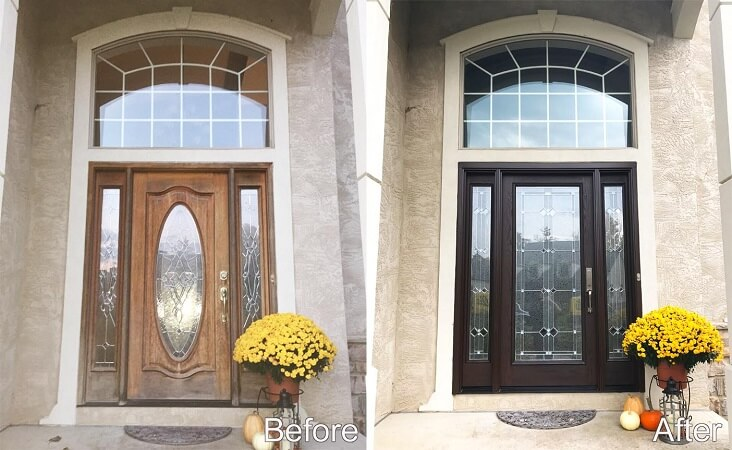 Fiberglass Entry Door Replacement For Columbus Home