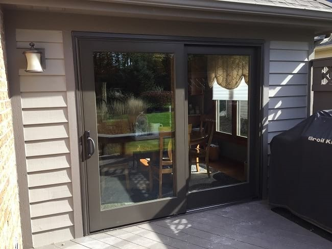 new 2 panel sliding patio door replacement - columbus ohio & Columbus OH Sliding Patio Door Replacement - BEFORE and AFTER