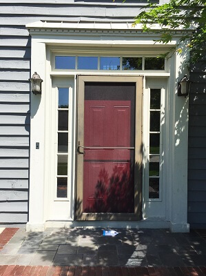 before image of columbus home with new fiberglass entry door