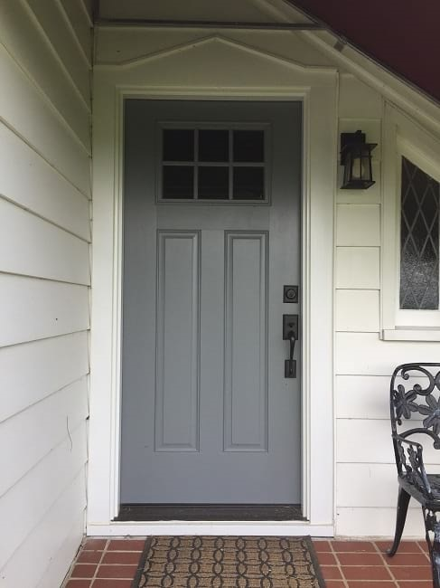 Replacing A Wood Door With Fiberglass Front Entry Refresh In Columbus