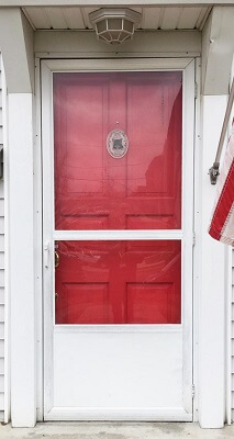 before image of entry door in columbus home