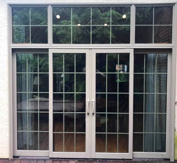 4-Panel Sliding Glass Door Lets in Natural Light
