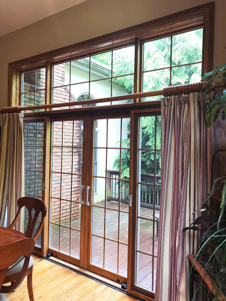 4 Panel Sliding Glass Door Lets In Natural Light Pella