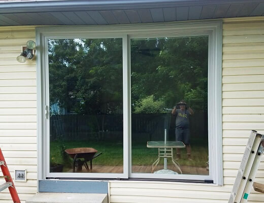 Impervia Sliding Patio Door After Outside