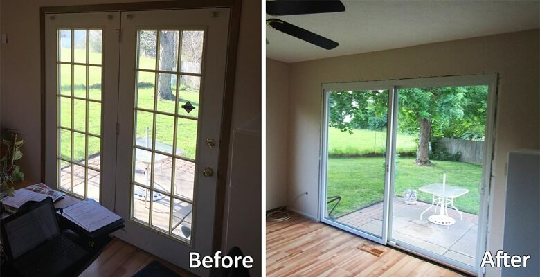 Replacement Sliding Patio Door and Window Bring Light into Ohio Home