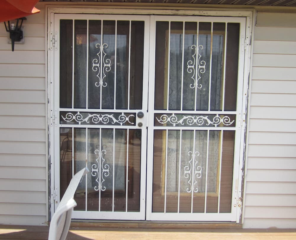 Old hinged patio doors