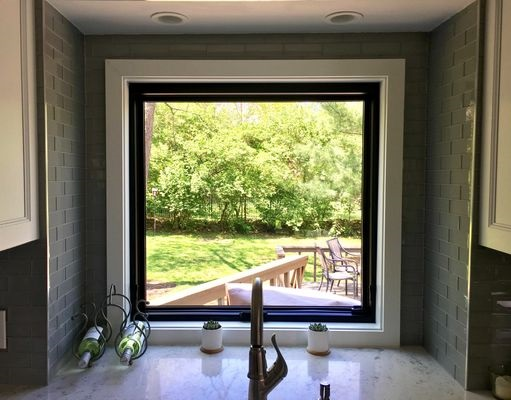 new fiberglass kitchen window with uninterrupted view