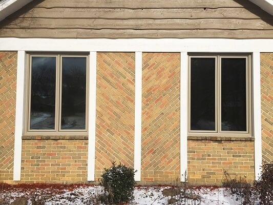 after- two casement wood windows