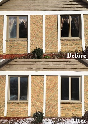 before and after - two casement wood windows