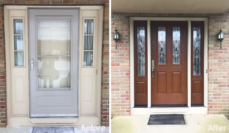 New Fiberglass Entry Door Updates Columbus Home With Classic Look