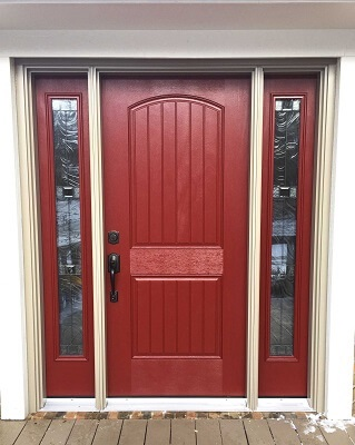 updated wood entry door in Columbus
