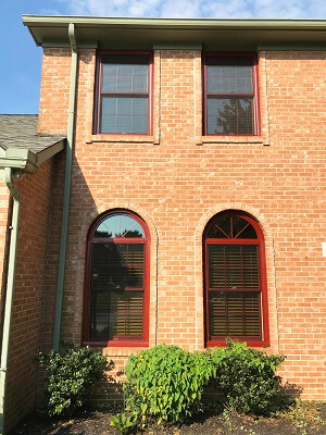 Red Replacement Windows Complement Westerville Brick Home