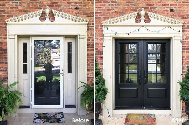 Double Entry Door Replacement Makes For Grand Entrance in Worthington Home