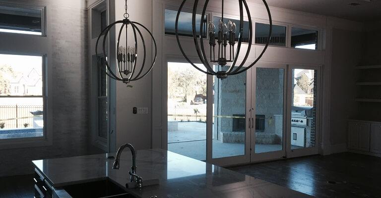 Contemporary Sliding Patio Door In Modern Dallas Home