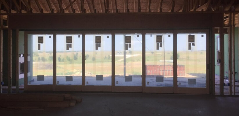 New Construction Wood Sliding Patio Door Inside