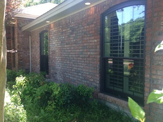 dallas home gets new fiberglass casement and single hung brown windows